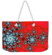 Pattern Synchro Red Weekender Tote Bag by Don Northup