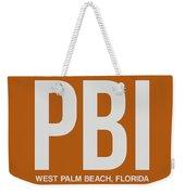 Pbi West Palm Beach Luggage Tag II Weekender Tote Bag