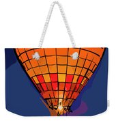Peach Hot Air Balloon Night Glow In Abstract Weekender Tote Bag