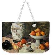 Peach Warbler Weekender Tote Bag