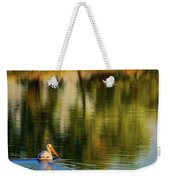 Pelican In Sunlight Weekender Tote Bag by John De Bord