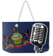 Pennsylvania Flag And Microphone Weekender Tote Bag