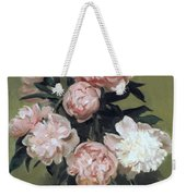 Peonies Front And Center Weekender Tote Bag