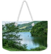 People Use Stand-up Paddleboards On Lake Habeeb At Rocky Gap Sta Weekender Tote Bag