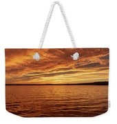 Percy Priest Lake Sunset Weekender Tote Bag