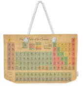 Periodic Table Of Elements Weekender Tote Bag by Michael Tompsett