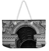Philadelphia City Hall Fresco In Black And White Weekender Tote Bag