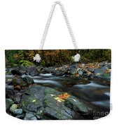 Pieces Of Autumn Weekender Tote Bag