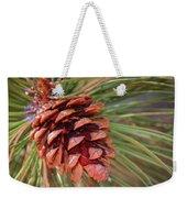 Pine Cone Weekender Tote Bag by Patti Deters