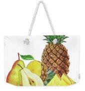 Pineapple Pear Watercolor Food Illustration  Weekender Tote Bag