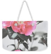 Pink Camellia. Shabby Chic Collection Weekender Tote Bag