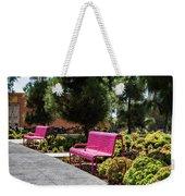 Pink Chairs At Grand Park Weekender Tote Bag