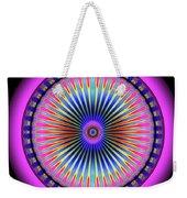 Pink Circus Sun  Weekender Tote Bag by Visual Artist Frank Bonilla