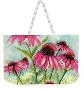 Pink Coneflowers Weekender Tote Bag