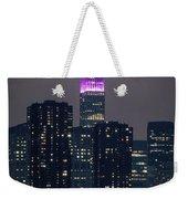 Pink Empire State Building Weekender Tote Bag