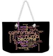 Pink Floyd - Comfortably Numb Lyrical Cloud Weekender Tote Bag