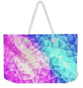 Pink Ice Blue  Abstract Polygon Crystal Cubism Low Poly Triangle Design Weekender Tote Bag