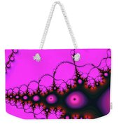 Pink Luminous Eyes Abstract Weekender Tote Bag by Don Northup