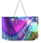 Pink Triangle Fractal Weekender Tote Bag