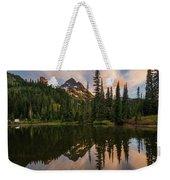 Pinnacle Peak Sunset Reflection Angles Weekender Tote Bag