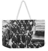 Pit 1 Of Terra Cotta Warriors In Black And White Weekender Tote Bag
