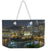 Pittsburgh Lights Weekender Tote Bag by David R Robinson