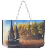 Plain Sailing, Boat Painting Weekender Tote Bag