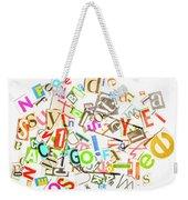 Play On Golf Words Weekender Tote Bag