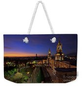 Plaza De Armas And Cathedral Of Arequipa, Peru Weekender Tote Bag by Sam Antonio Photography