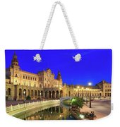 Plaza De Espana At Night Seville Andalusia Spain Weekender Tote Bag