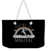 Poetry Is Magical Weekender Tote Bag