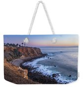 Point Vicente Lighthouse Long Exposure Weekender Tote Bag by Andy Konieczny