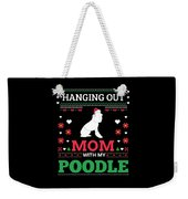 Poodle Ugly Christmas Sweater Xmas Gift Weekender Tote Bag