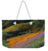 Poppies Bluebells And Rolling Hills Weekender Tote Bag