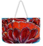 Poppy Flower Weekender Tote Bag by Jacqueline Athmann