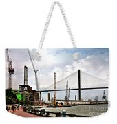 Port Of Savannah Crane Construction Weekender Tote Bag