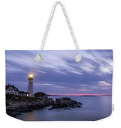 Portland Head Light At Twilight Pano Weekender Tote Bag