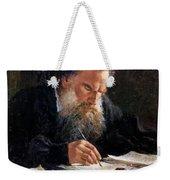 Portrait Of Leo Tolstoy Weekender Tote Bag