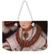 Portrait Of Magdalena Of Saxony, Wife Of Elector Koachim II Weekender Tote Bag