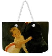 Portrait Of Shestova With Daughter Weekender Tote Bag