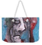 Portrait On Blue Weekender Tote Bag