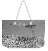 Portrait View Of Downtown San Francisco From Commertial Airplane Weekender Tote Bag