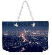 Poster Of Downtown San Francisco With Harbor On The Right Weekender Tote Bag