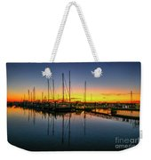 Pre-dawn Marina Colors Weekender Tote Bag by Tom Claud