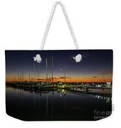 Pre-dawn Marina Weekender Tote Bag by Tom Claud