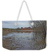 Prescott Arizona Watson Lake Sky Clouds Hills Rocks Trees Grasses Water 3142019 4920 Weekender Tote Bag