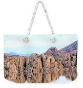 Prescott Arizona Watson Lake Water Mountains Lake Rocks Sky Reflections 4835 Weekender Tote Bag