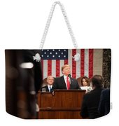President Donald J. Trump Delivers His State Of The Union Address At The U.s. Capitol 2 Weekender Tote Bag