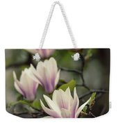 Pretty White And Pink Magnolia Weekender Tote Bag