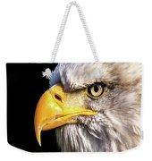Profile Of Bald Eagle Weekender Tote Bag